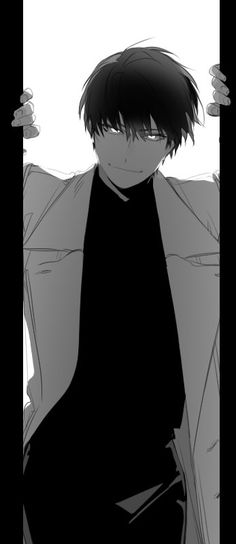I caught you now. Anime Boy Sketch, Anime Art Girl, Handsome Anime Guys, Cute Anime Guys, Character Art, Character Design, Pretty Drawings, Anime People, Manga Boy