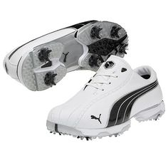 Puma Amp Cell Fusion Golf Shoes White Direct Blue