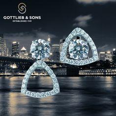 Earrings Kit Set Diamond Earrings Set In Rose Gold Solitaire Earrings, Diamond Pendant Necklace, Diamond Jewelry, Diamond Earrings, Ear Jewelry, Jewelry Sets, Jewelery, Diamond Tops, Diamond Shapes