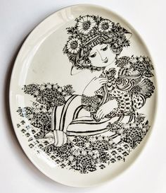 by Bjorn Wiinblad Paloma Ceramic Painting, Ceramic Artists, Ceramic Decor, Ceramic Pottery, Contemporary Decorative Art, Ceramic Techniques, Painted Vases, Arte Popular, Pottery Designs