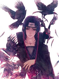 Naruto Challenge Day Favorite Akatsuki Member: Itachi yeah another sorta obvious answer but he's just.omg how can you not love Itachi even before you learn a bunch about him. Itachi Uchiha, Gaara, Naruto Und Sasuke, Sasuke Sakura, Itachi Akatsuki, Kakashi, Anime Naruto, Naruto Meme, Anime Guys