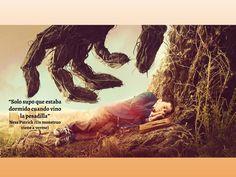 Frase utilizada por el director de la película Juan Antonio Bayona y escrita por el autor del libro (Ness Patrick) que tiene el mismo nombre que la película.
