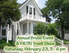 #Dayton #Brides- Bridal Event & VIETRI Trunk Show  Saturday, February 23th ~ 3 p.m. to 6 p.m.  Visit with a representative from VIETRI....handcrafted Italian dinnerware and pottery.  Receive 10% off VIETRI purchased or special ordered during the event.     Ashley's Pastry Shop, Jeff Martin's Florist and The Mulberry Tree will have displays and samples from their shops.   Brides who register at The Little Exchange will receive a small Vietri dish.  Free admission, favors, and door prizes!