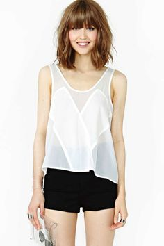 Nasty Gal Sheer Illusion Tank