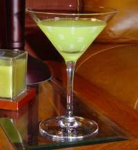 Illusion  Ice Cubes  1/2-oz melon liqueur  1/2-oz Cointreau  1/2-oz vodka  1/2-oz lemon juice  1/2-oz pineapple juice    Half fill a cocktail shaker with ice  Add all of the ingredients  Shake well and strain into a chilled martini glass