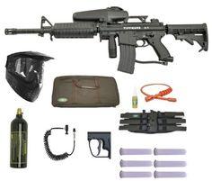 TIPPMANN A5 Paintball Gun Marker M4 Sniper Set Paintball Field, Paintball Gear, Sniper Gear, Picatinny Rail, Air Rifle, Airsoft, Markers, Guns, Weapons