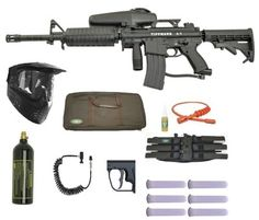 TIPPMANN A5 Paintball Gun Marker M4 Sniper Set