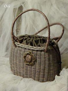 """Купить сумочка плетеная """"Бабье лето"""" - комбинированный, сумка ручной работы…"""