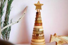 Eco Friendly Stacking Toy/ Wooden Toy/ Ring Stacker/ от MamumaBird
