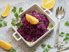 Almás-narancsos párolt káposzta - GabyKonyha Okra, Cabbage, Vegetables, Food, Gumbo, Essen, Cabbages, Vegetable Recipes, Meals