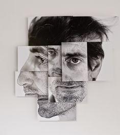 French artist Brno Del Zou has created portrait photo-sculpture series Photomontage, Photography Projects, Portrait Photography, Kreative Portraits, Art Du Collage, Photo Sculpture, Foto Transfer, Creation Art, A Level Art