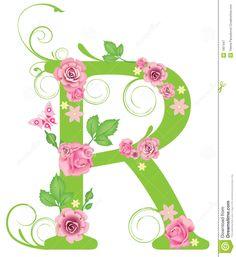 Lettera R Con Le Rose Fotografia Stock Libera da Diritti - Immagine: 7967447