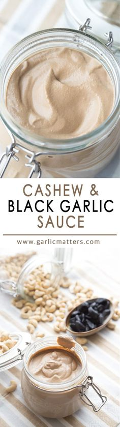This 3 ingredient Cashew and Black Garlic Sauce is a real super star of healthy condiments. Versatile, rich, creamy and above all really tasty. It takes only 15 minutes to make, can be eaten cold or hot, as a dip or sauce, poured over pasta, meat or vegetables.