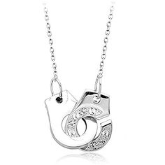 LovEnter Friendship Handcuffs 18k white Gold Plated Necklace, Popular Charm Necklace; Everydaywear Jewelry and Gift for BFF, Friend, Valentines, Birthday--Arrives in Beautiful Velvet Gift Box LovEnter http://www.amazon.com/dp/B00KVHUVCY/ref=cm_sw_r_pi_dp_2xtNwb0RE51GF