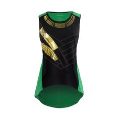 Loki Suit Cosplay Costume Marvel Comics Women's Georgette Tank Top #fashion #style #superhero This top is HOT.