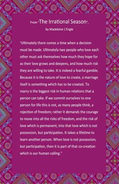 I love this reading! Shared by Rev. Annie Lawrence, NYC Wedding Officiant