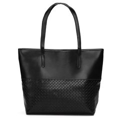 Sale 25% (15.19$) - Women Simple Knitting Totes Casual Handbags Shoulder Bags Large Capcity Shopping Bags