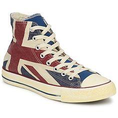 Stilvolle Sneaker High #Converse Chuck Taylor All Star UNION JACK Weiss / Blau / Rot  Schuhe Preis: 63,99 €  #converseschuhe #conversesneaker #damenschuhe #herrenschuhe