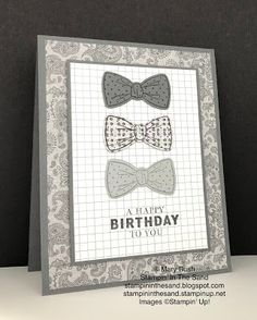 Masculine Birthday Cards, Masculine Cards, Free Birthday Card, Stampin Up Catalog, Fathers Day Cards, Card Tutorials, Birthday Photos, Stamping Up, Homemade Cards