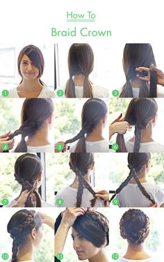 How To: Braid Crown... It'll be another 4 years before my hair is long enough to even do this..