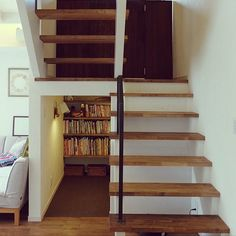 Fashion Room, Interior Architecture, Bookcase, Sweet Home, Stairs, Shelves, House, Home Decor, Stair Design