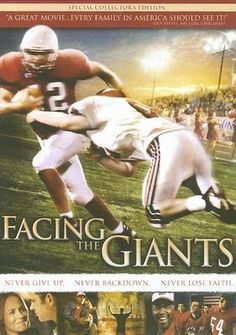 """Facing the Giants"" - the inspirational movie from the creators of ""Fireproof"" and ""Courageous."" #football #movies #inspiration"