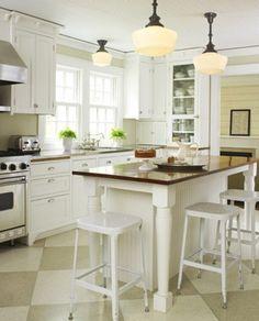 Checkerboard Floor Kitchens | Atticmag | Kitchens, Bathrooms, Interior Design
