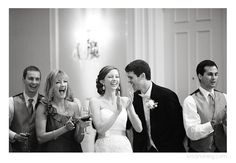 black and white, reception, toasts, clapping, laughter, Carolina Bride Feature, Ballantyne Hotel Wedding, Charlotte NC Wedding Photographer