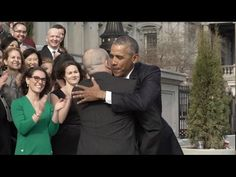 Barack and Michelle Obama wave goodbye to Washington - YouTube