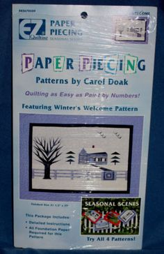 Winter Paper Piecing Quilting Kit Carol Doak Winters Welcome Pattern EZ Wrights