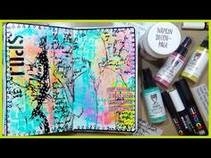 How To Create A Mixed Media Background Art Journal Pages, Art Journals, Journal Ideas, Napkin Decoupage, Glue Book, Paint Pens, Collage Sheet, Medium Art, Mixed Media Art