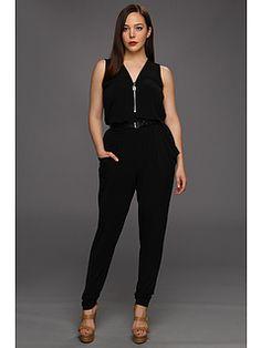 Michael Kors Plus Size Sleeveless Zip Front Jumper