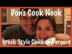 Don's Cook Nook: Greek Style Chicken Burgers