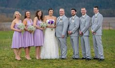 Lavender short convertible Dress