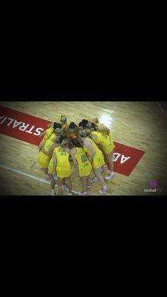 Australian netball team huddle ready for battle! Looking Up, Ferns, Battle, Lol, Inspired, Amazing, People, Sports, Sport