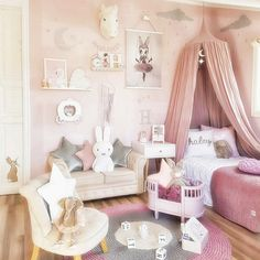 Toddler Girl Bedroom Decor Fun Girls Bedroom Decor Ideas Cute Room Decorating In Pink For Girls Toddler Girl Room Decorating Ideas Diy Unicorn Bedroom, Baby Bedroom, Bedroom Decor, Nursery Decor, Girls Bedroom Pink, 4 Year Old Girl Bedroom, Master Bedroom, Bedroom Themes, Girls Bedroom Canopy