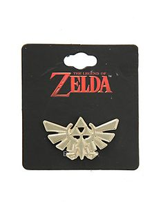 The Legend Of Zelda Triforce Logo Metal Pin,