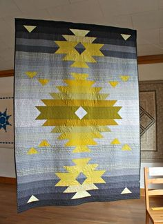 A Quilter's Table: ::Binary Challenge:: Strip Quilts, Quilt Blocks, Southwestern Quilts, Southwestern Style, Indian Quilt, Modern Quilt Patterns, Modern Quilting Designs, Quilt Designs, Geometric Quilt