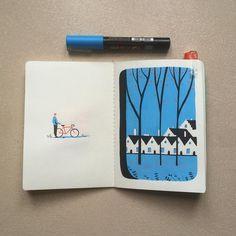 #brugge #dewijngaard #illustration #posca #poscaart #sketchbook