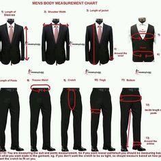 Men's Body Measurement Chart - Men's Suit Measurements Make sure your tailor does it right. Sharp Dressed Man, Well Dressed Men, Suit Fashion, Mens Fashion, Fashion Menswear, Style Fashion, Suit Measurements, Slim Fit Jackets, Men Style Tips