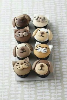 Creative puppy n kitty cupcakes