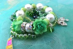 Girl Fancy Pearl Bracelets Charm Bracelets by PrincessInDreams