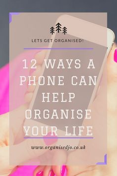 Organising you and your family's life can be hard work. In this post I show you how I use my mobile phone to keep track of everything.