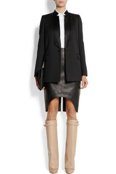 Givenchy Shark Lock leather knee boots NET-A-PORTER.COM