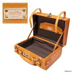 Miffy Cow Leather Trunk | Export Japanese products to the world at wholesale prices - SUPER DELIVERY Japanese Products, 65th Anniversary, United Parcel Service, Service Awards, Miffy, Natural Texture, Natural Leather, Cow Leather, Fashion Bags