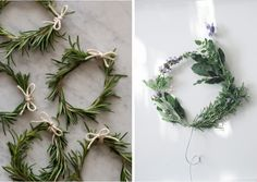 herb wreaths by spoon fork bacon and eau de nil, Remodelista