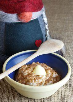 Risengrød - Danish Rice Porridge. Recipe in English from the Sweet Sour Savory blog.