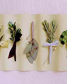 Simple and natural Boutonnieres