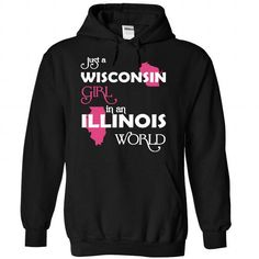 (Wisconsin002) Just A Wisconsin Girl In A Illinois Worl - #gift basket #novio gift. OBTAIN LOWEST PRICE => https://www.sunfrog.com/Valentines/-28Wisconsin002-29-Just-A-Wisconsin-Girl-In-A-Illinois-World-Black-Hoodie.html?68278