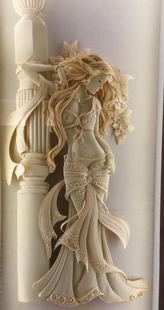 Paper art sculpture by mokka sath is kumar.from india Clay Wall Art, 3d Wall Art, Mural Art, Clay Art, Book Sculpture, Wall Sculptures, Art Studio Storage, Plaster Art, Flower Background Wallpaper